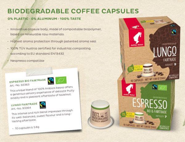קפסולות מתכלות של אספרסו ביו&פיירטרייד! 100% ערביקה!